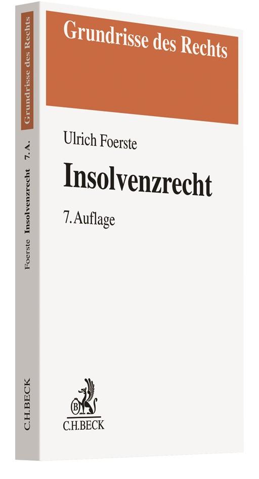Insolvenzrecht | Foerste | 7., überarbeitete und erweiterte Auflage, 2018 | Buch (Cover)