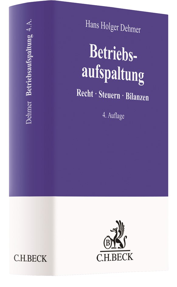 Betriebsaufspaltung | Dehmer | 4. Auflage, 2018 | Buch (Cover)