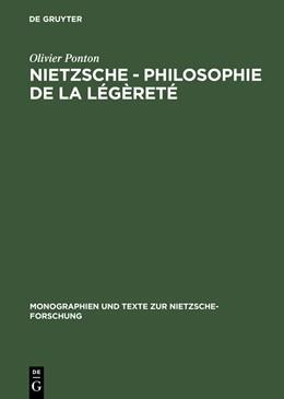 Abbildung von Ponton | Nietzsche - Philosophie de la légèreté | 2007 | 53