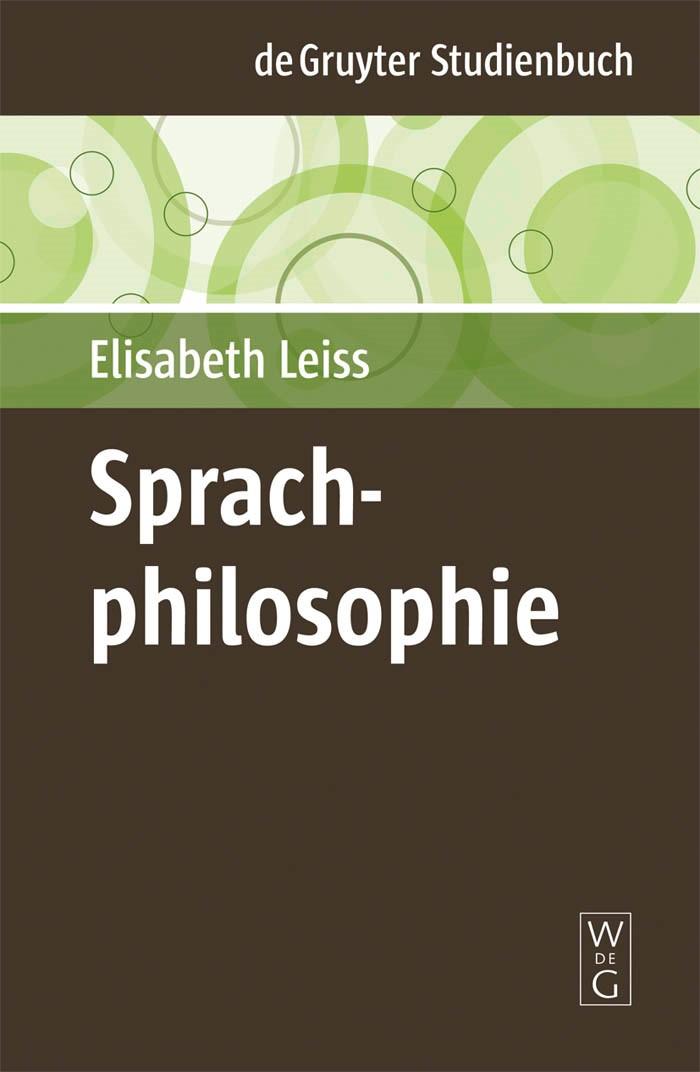 Abbildung von Leiss | Sprachphilosophie | 2009