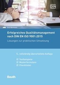 Erfolgreiches Qualitätsmanagement nach DIN EN ISO 9001:2015 | Reimann | 5., vollständig überarbeitete Auflage, 2017 | Buch (Cover)