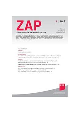 Abbildung von ZAP - Zeitschrift für die Anwaltpraxis   30. Auflage   2021   beck-shop.de