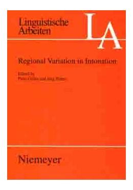 Abbildung von Gilles / Peters | Regional Variation in Intonation | 2004 | 492