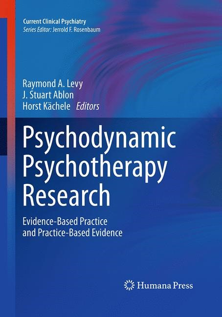 Psychodynamic Psychotherapy Research | Ablon / Kächele / Levy | Softcover reprint of the original 1st ed. 2012, 2016 | Buch (Cover)