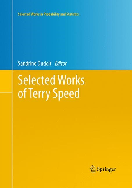 Selected Works of Terry Speed | Dudoit | Softcover reprint of the original 1st ed. 2012, 2016 | Buch (Cover)