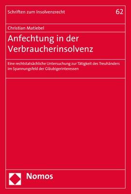 Anfechtung in der Verbraucherinsolvenz | Matiebel, 2017 | Buch (Cover)