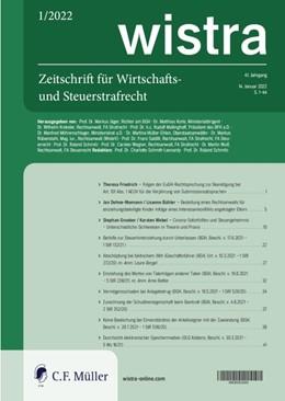 Abbildung von wistra | 37. Auflage | 2021 | beck-shop.de
