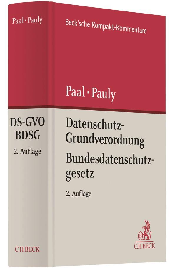 Datenschutz-Grundverordnung Bundesdatenschutzgesetz: DS-GVO BDSG | Paal / Pauly | 2. Auflage, 2018 | Buch (Cover)
