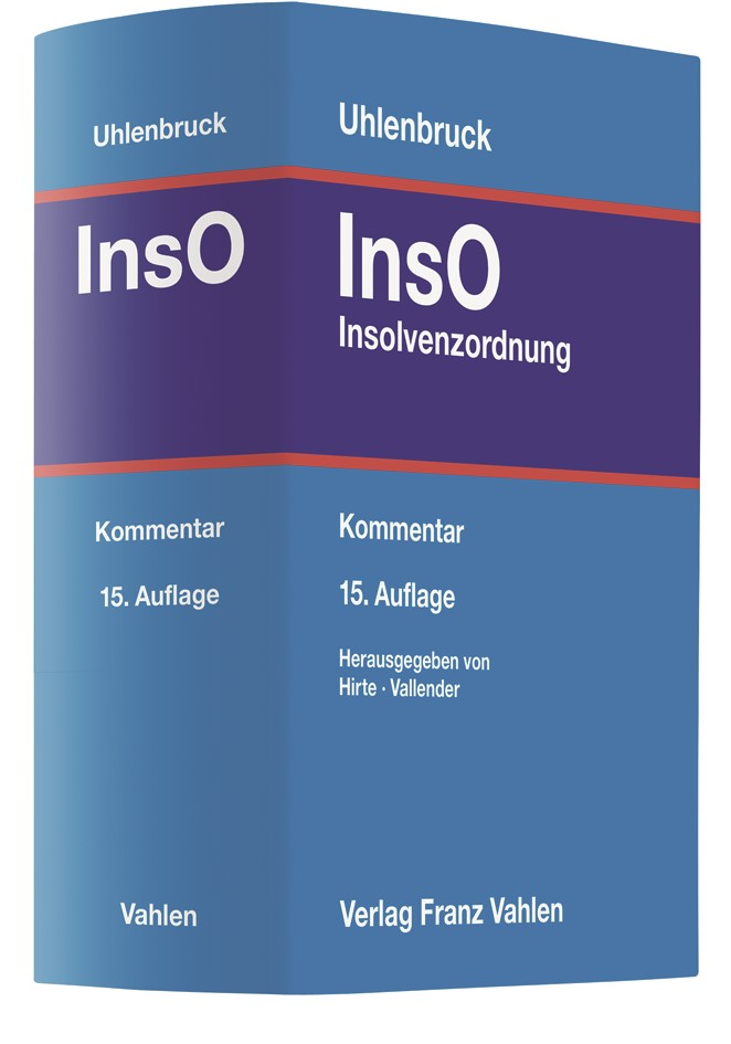 Insolvenzordnung: InsO | Uhlenbruck | 15. Auflage, 2018 | Buch (Cover)