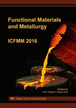 Abbildung von Abdul Amir | Functional Materials and Metallurgy | 2017 | ICFMM 2016