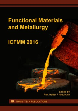 Abbildung von Abdul Amir | Functional Materials and Metallurgy | 2017 | ICFMM 2016 | Volume 263