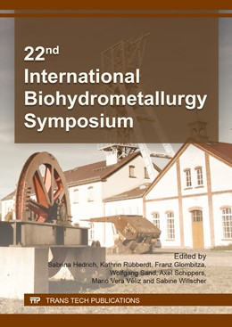 Abbildung von Hedrich / R?bberdt | 22nd International Biohydrometallurgy Symposium | 1. Auflage | 2017 | Volume 262 | beck-shop.de