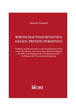 Abbildung von Scarpelli | Wirtschaftssanktionen gegen private Personen | Auflage | 2015 | Verfahren und Rechtsschutz in ...