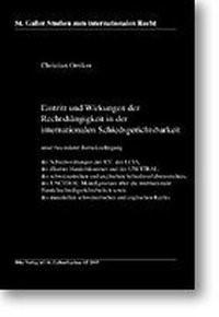 Eintritt und Wirkung der Rechtshängigkeit in der inter- nationalen Schiedsgerichtsbarkeit | Oetiker | Auflage, 2003 | Buch (Cover)