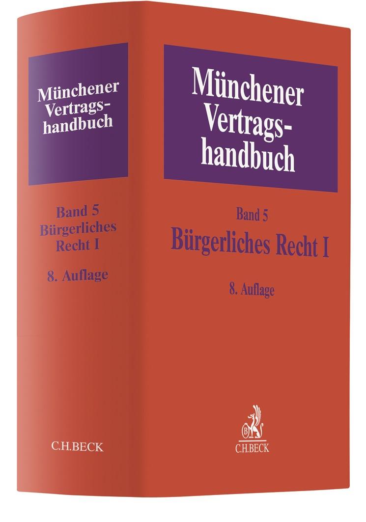 Münchener Vertragshandbuch, Band 5: Bürgerliches Recht I | 8. Auflage, 2019 | Buch (Cover)