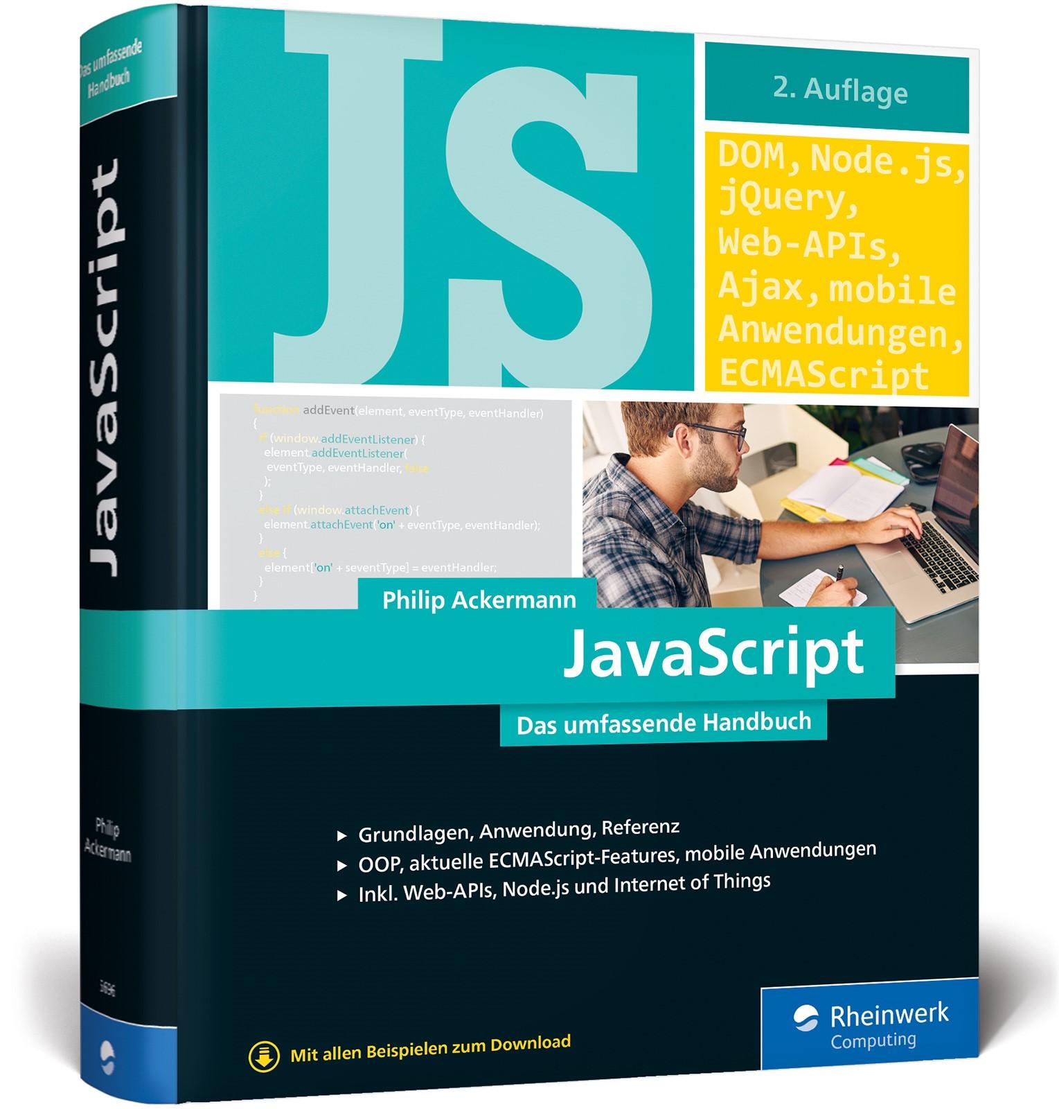 JavaScript | Ackermann | 2. Auflage, 2018 | Buch (Cover)
