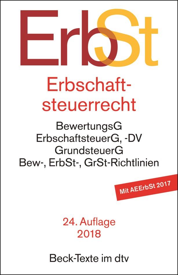 Erbschaftsteuerrecht: ErbSt | 24. Auflage, 2018 | Buch (Cover)