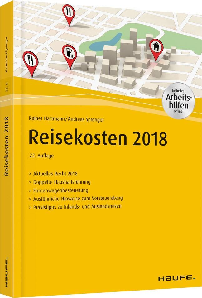 Reisekosten 2018 | Hartmann / Sprenger | 22. Auflage, 2018 | Buch (Cover)