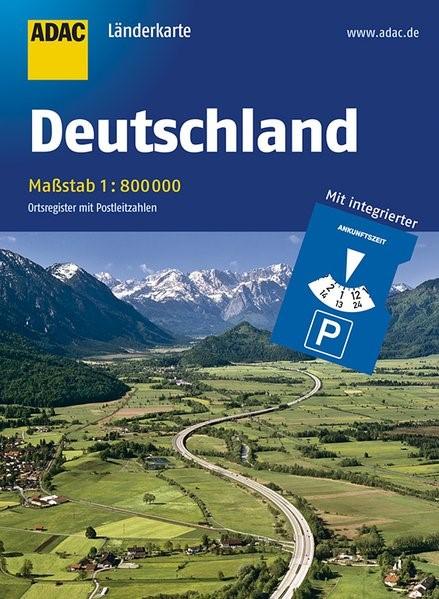 ADAC Länderkarte Deutschland 1:800 000 mit Parkscheibe | 1. Auflage, 2017 (Cover)
