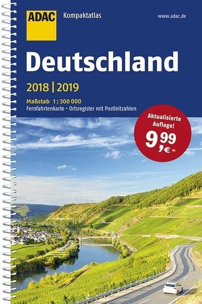 ADAC Kompaktatlas Deutschland 2018/2019 1:300 000 | 19. Auflage, 2018 | Buch (Cover)