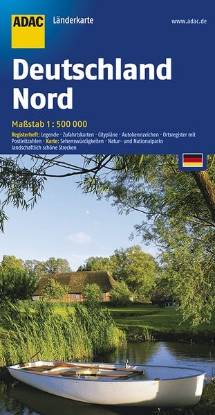 ADAC Länderkarte Deutschland Nord 1 : 500 000   15. Auflage, Laufzeit bis 2021, 2017 (Cover)