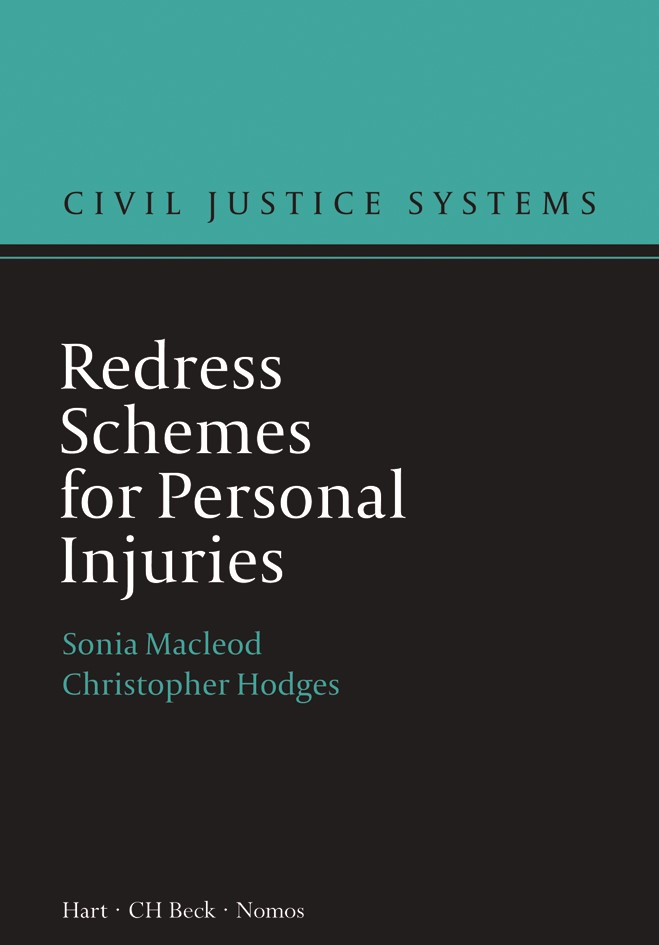 Redress Schemes for Personal Injuries | Macleod / Hodges, 2018 | Buch (Cover)
