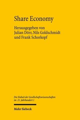 Abbildung von Dörr / Goldschmidt / Schorkopf | Share Economy | 2018 | Institutionelle Grundlagen und...