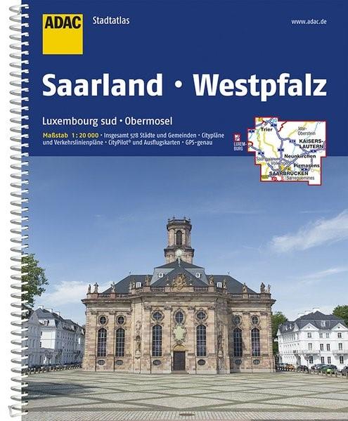 Abbildung von ADAC Stadtatlas Saarland mit Idar-Oberstein, Kaiserslautern, Luxembourg 1: 20 000 | 9. Auflage | 2017
