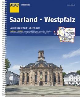 Abbildung von ADAC Stadtatlas Saarland mit Idar-Oberstein, Kaiserslautern, Luxembourg 1: 20 000 | 9. Auflage | 2017 | Neunkirchen, Pirmasens, Saarbr...