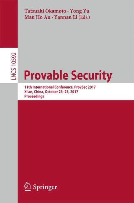 Provable Security | Okamoto / Yu / Au / Li, 2017 | Buch (Cover)