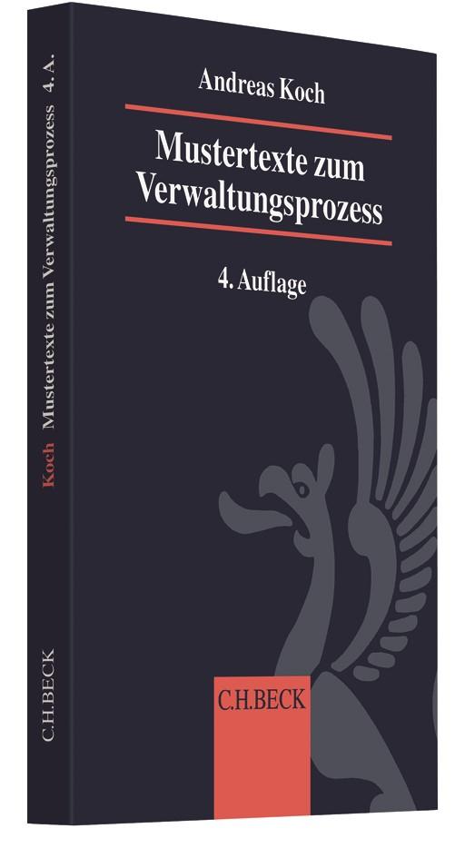 Mustertexte zum Verwaltungsprozess | Koch | 4., neu bearbeitete Auflage, 2018 | Buch (Cover)