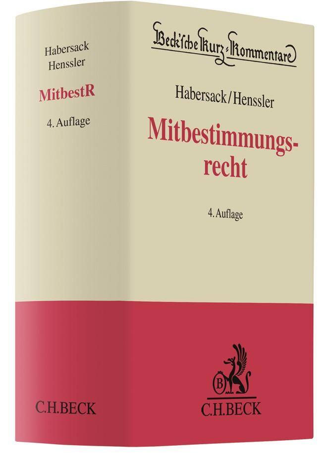 Mitbestimmungsrecht: MitbestR | Habersack / Henssler | 4. Auflage, 2018 | Buch (Cover)