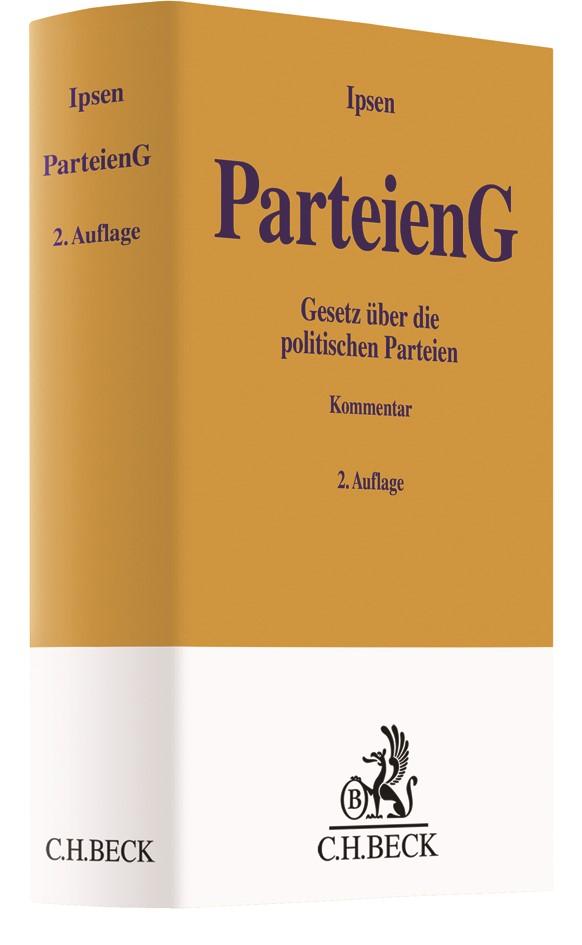 Parteiengesetz: ParteienG | Ipsen | 2. Auflage | Buch (Cover)