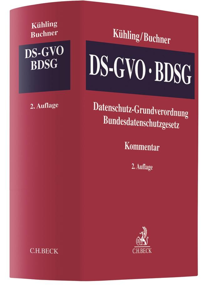 Datenschutz-Grundverordnung, Bundesdatenschutzgesetz: DS-GVO/BDSG | Kühling / Buchner | 2. Auflage, 2018 | Buch (Cover)