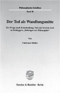 Der Tod als Wandlungsmitte.   Müller, 1999   Buch (Cover)