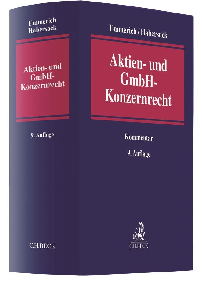 Aktien- und GmbH-Konzernrecht   Emmerich / Habersack   9. Auflage, 2019   Buch (Cover)