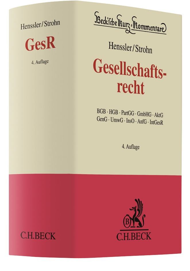 Gesellschaftsrecht | Henssler / Strohn | 4. Auflage, 2018 | Buch (Cover)