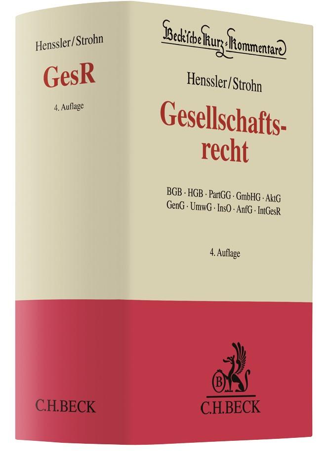 Abbildung von Henssler / Strohn | Gesellschaftsrecht | 4. Auflage | 2019