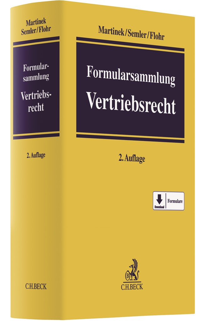 Formularsammlung Vertriebsrecht | Martinek / Semler / Flohr | 2. Auflage, 2018 | Buch (Cover)
