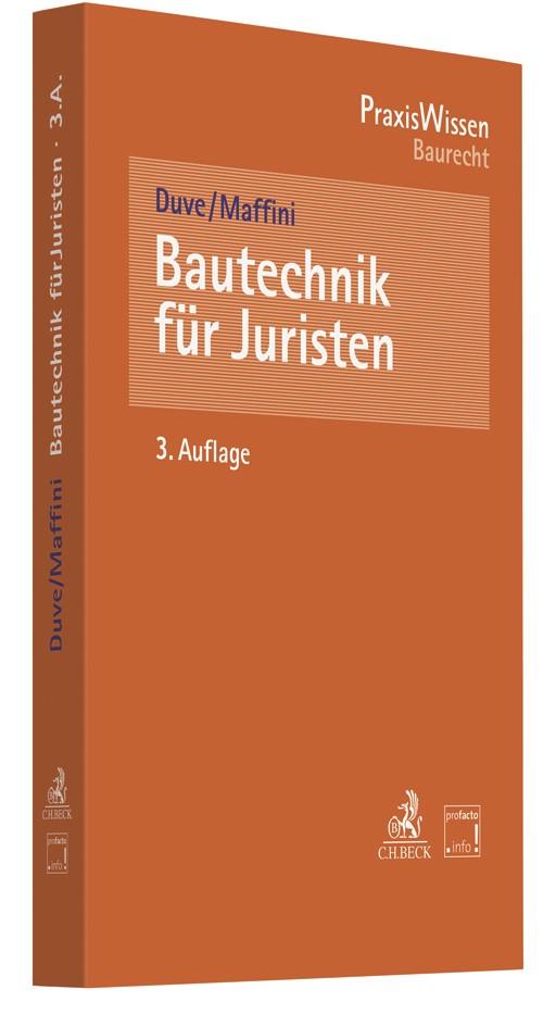 Bautechnik für Juristen | Duve / Maffini | 3. Auflage, 2018 | Buch (Cover)