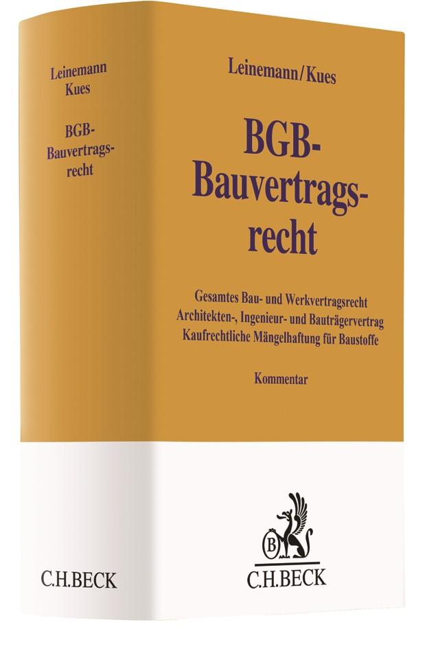 BGB-Bauvertragsrecht | Leinemann / Kues, 2018 | Buch (Cover)