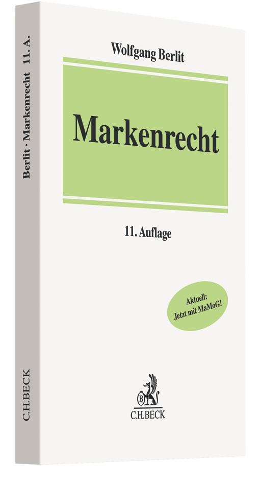Abbildung von Berlit   Markenrecht   11., neubearbeitete Auflage   2019