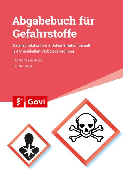 Abbildung von Abgabebuch für Gefahrstoffe | 2017
