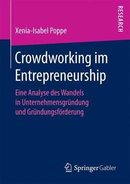 Abbildung von Poppe | Crowdworking im Entrepreneurship | 2017 | Eine Analyse des Wandels in Un...