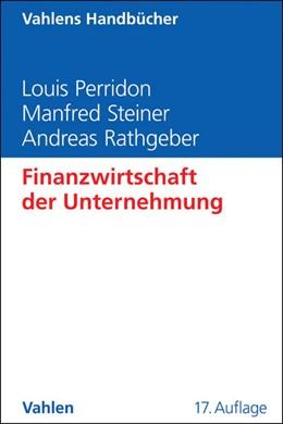 Abbildung von Perridon / Steiner   Finanzwirtschaft der Unternehmung   17. Auflage   2016   beck-shop.de