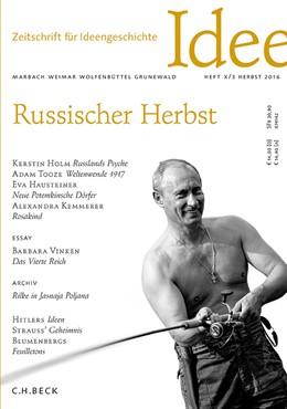Abbildung von Hacke / Müller | Zeitschrift für Ideengeschichte Heft X/3 Herbst 2016 | 1. Auflage | 2016 | beck-shop.de