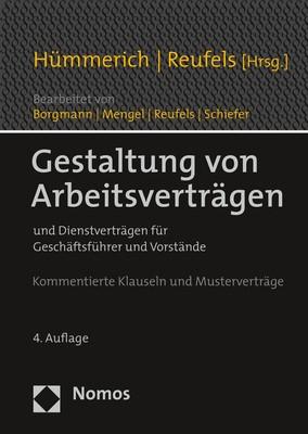 Gestaltung von Arbeitsverträgen | Hümmerich / Reufels | 4. Auflage, 2018 | Buch (Cover)