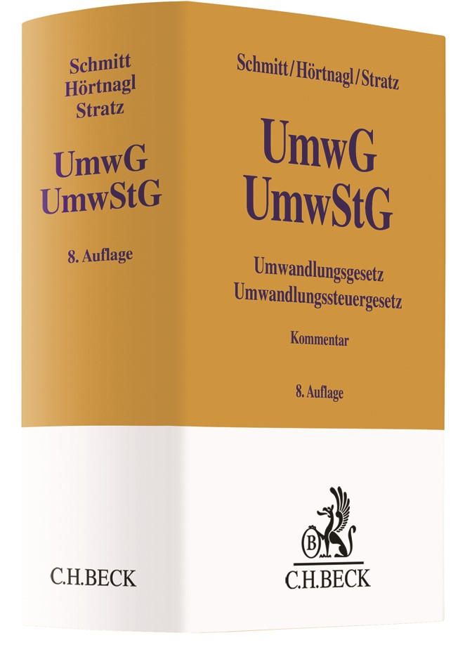 Umwandlungsgesetz, Umwandlungssteuergesetz: UmwG, UmwStG | Schmitt / Hörtnagl / Stratz | 8. Auflage, 2018 | Buch (Cover)