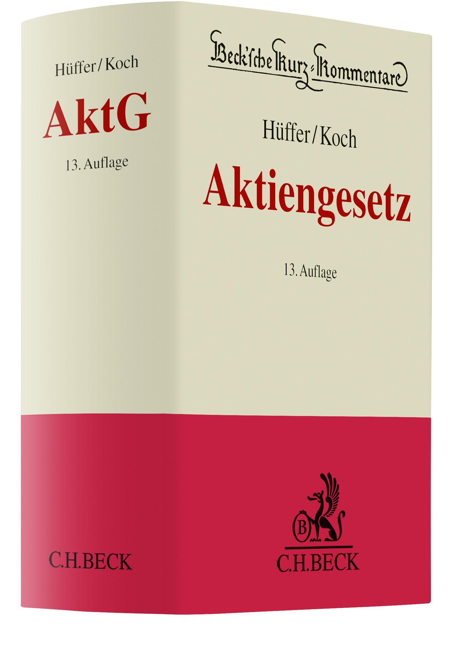 Aktiengesetz: AktG | Hüffer / Koch | 13. Auflage, 2018 | Buch (Cover)