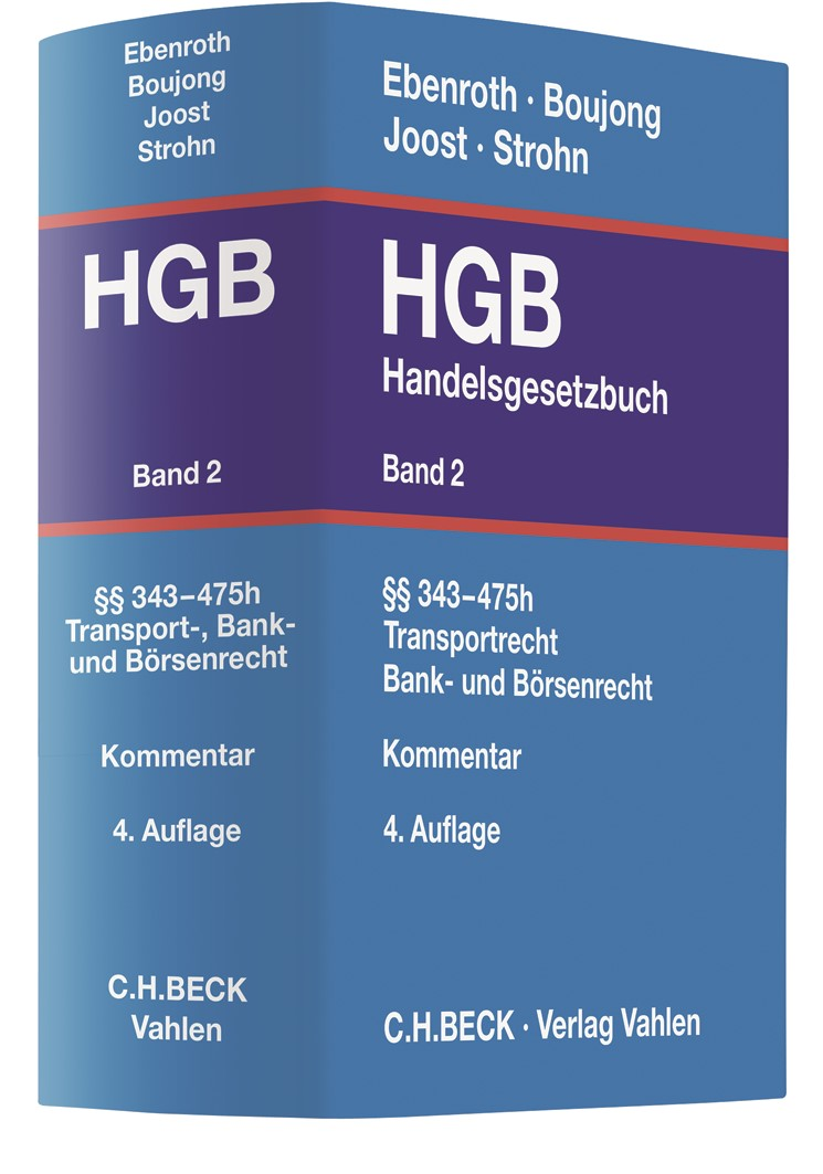 Handelsgesetzbuch: HGB, Band 2: §§ 343-475h | Ebenroth / Boujong / Joost / Strohn | 4. Auflage, 2019 | Buch (Cover)